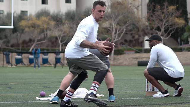 Johnny Manziel's best throws from USD pro day