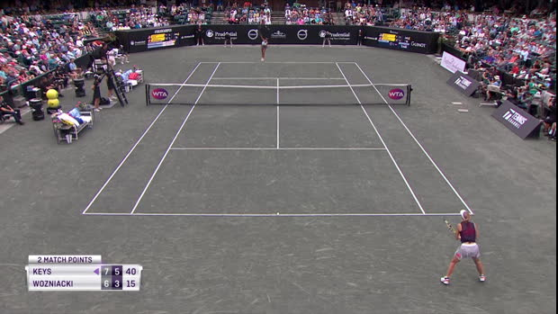 : Charleston - Keys remporte son premier titre depuis 2017 en dominant Wozniacki
