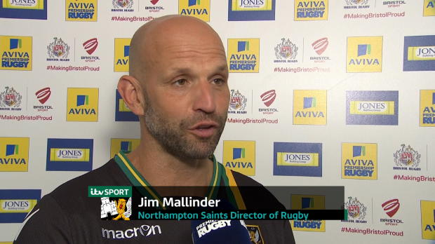 Aviva Premiership - Jim Mallinder interview after his sides victory against Bristol Rugby