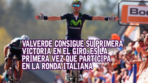 Giro de Italia - Valverde consigue su primera victoria en el Giro