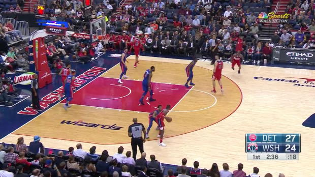 WSC: John Wall 26 points vs the Pistons