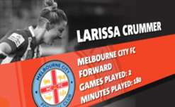 Melbourne City's Larissa Crummer is the October nominee for NAB's Young Footballer of the Year award.
