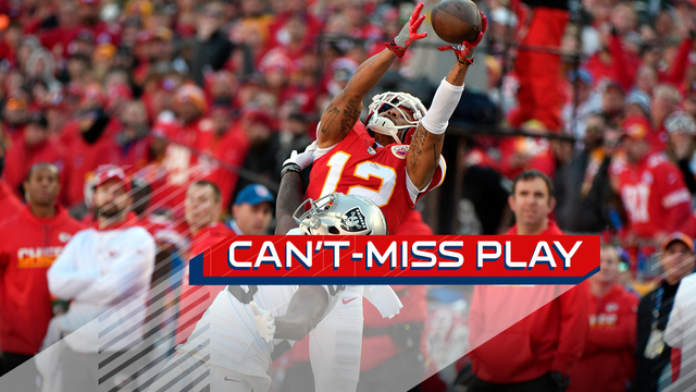 Can't-Miss Play: Albert Wilson goes up, somehow keeps both feet in for 36 yards