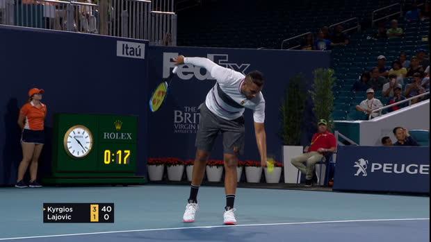 Tennis : Miami - Service à la cuillère - Kyrgios a remis le couvert !