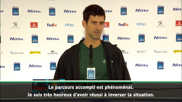 "Tennis : Masters - Djokovic - ""Le parcours accompli est phénoménal"""