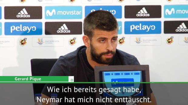 """Pique: """"Bin nicht enttäuscht von Neymar"""""""