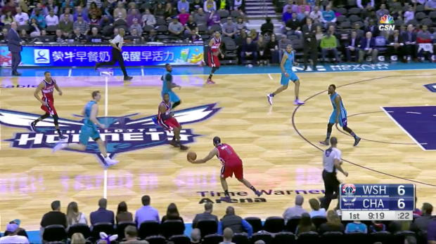 WSC: John Wall with 10 Assists against the Hornets