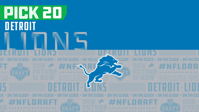 Lions pick No. 20 | NFL Mock Draft Live