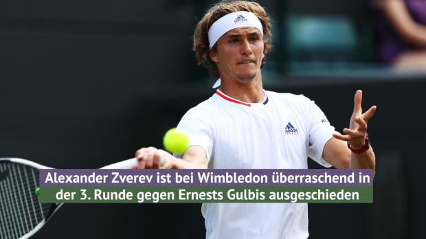 Wimbledon: Zverev bereits in Runde drei raus