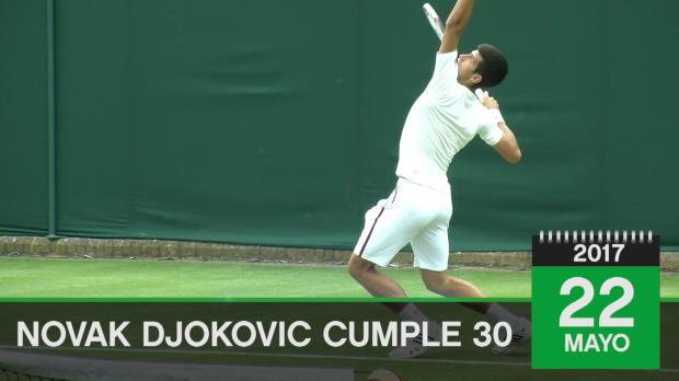 Feliz cumple... Djokovic cumple 30 primaveras