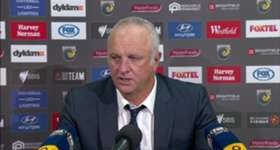 Graham Arnold was pleased with how his re-jigged formation performed in the win over the Mariners on Sunday.