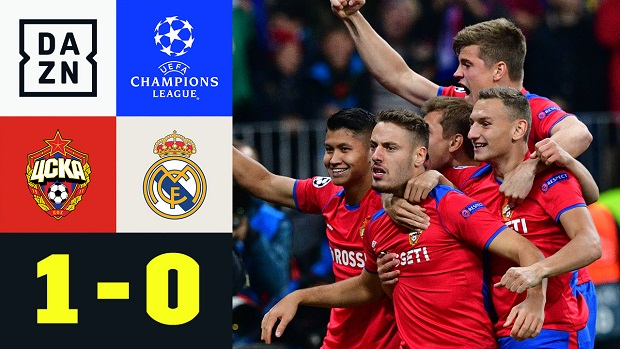 UEFA Champions League: ZSKA Moskau - Real Madrid | DAZN Highlights