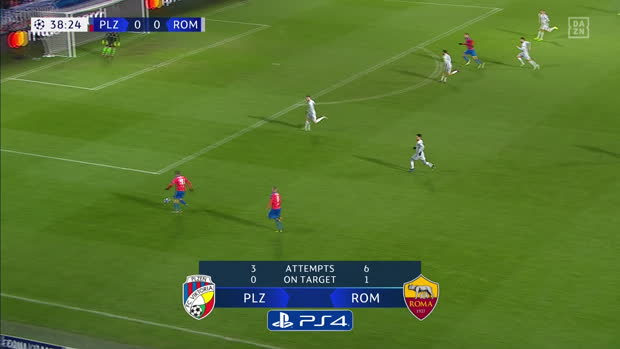 UEFA Champions League: Pilsen - AS Rom | DAZN Highlights
