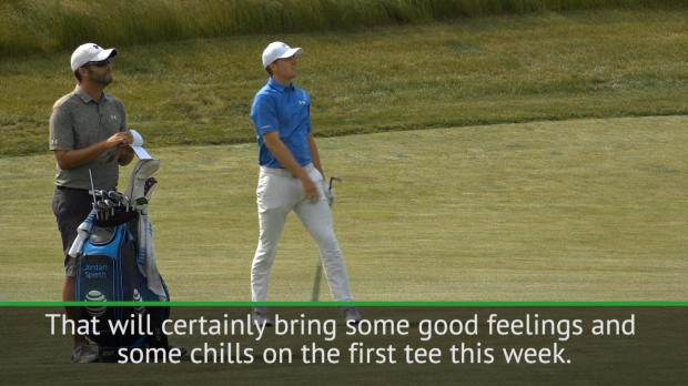 Defending champion Spieth expecting chills at The Open first tee