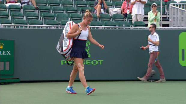 WTA - Miami - Konta sort Parmentier