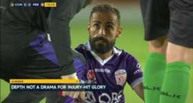 Perth Glory defender Shane Lowry is confident the squad can cover the absences of injured stars Diego Castro and Josh Risdon.