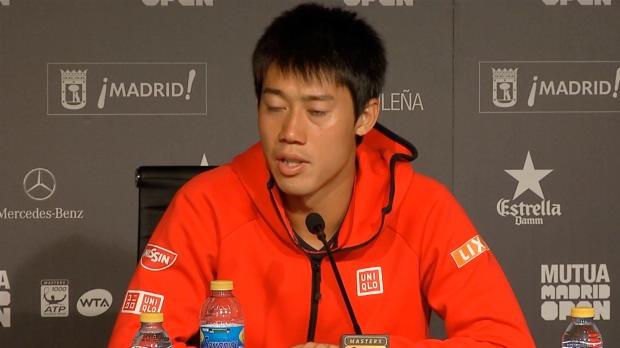 """Madrid: Nishikori: """"Auf Sand wirklich gut"""""""