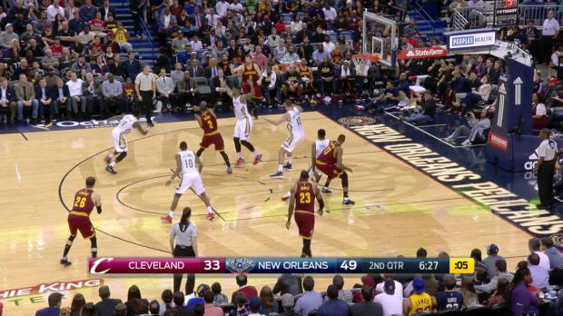 WSC: LeBron James posts 26 points, 12 assists & 10 rebounds vs. the Pelicans, 1/23/2017