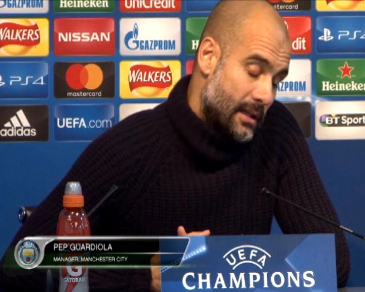 كرة قدم: دوري أبطال أوروبا: غوارديولا سعيد إزاء عبور سيتي إلى الدور الـ16