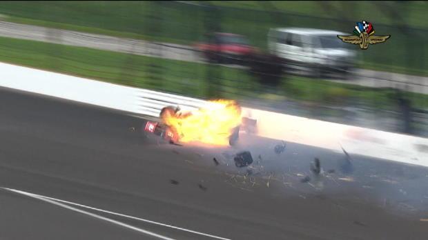 Indy500: Horror-Crash! Bourdais schwer verletzt