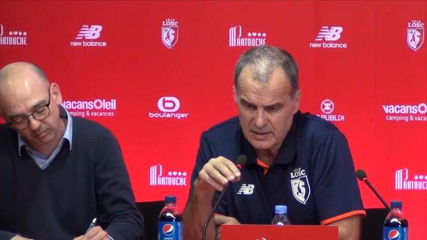"""Bielsa, en su llegada a Lille: """"Veremos hasta donde podemos llegar"""""""