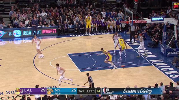 WSC: Kyle Kuzma 19 points vs the Knicks