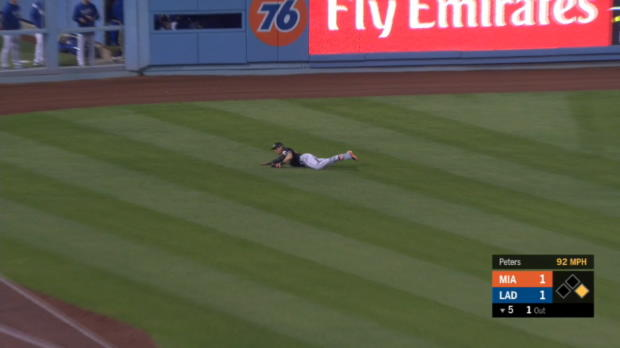 Dietrich's great diving play