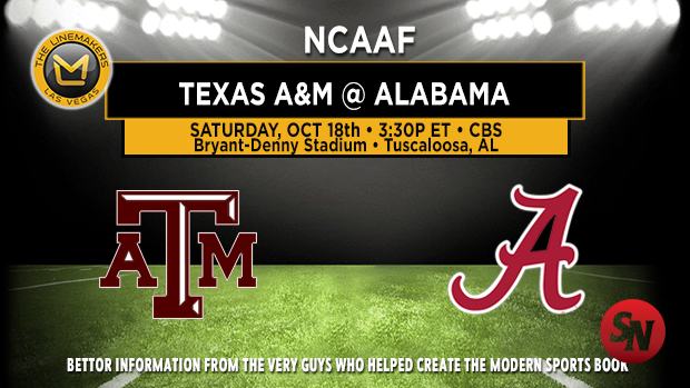 Texas A&M Aggies @ Alabama Crimson Tide
