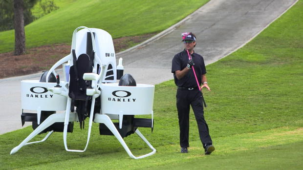 Bubba Watson revolutionises golf with crazy jetpack