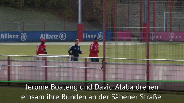 Bayern-Training: Bangen um Boateng und Alaba