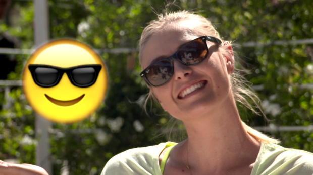 Rom: Lächeln bitte! Tennis-Damen als Emoticons
