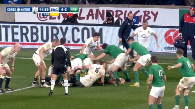 England v Ireland, 2nd Half Highlights 27th February 2016