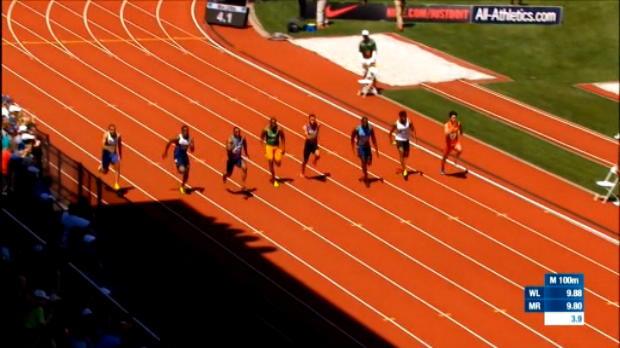 لقطة: الدوري الماسي: فشل ذريع لغاتلين ودي غراسي في سباق 100 متر في لقاء يوجين