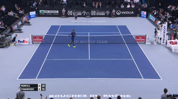 Play of the day: Monfils mit Mega-Vorhand
