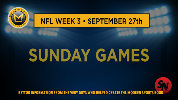 Sunday NFL Week 3
