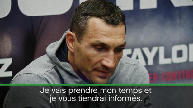 Poids lourds - Klitschko - ''Il existe une clause dans le contrat pour un rematch''