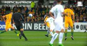 Caltex Socceroos midfielder Massimo Luongo recalls his stunning opener against Iraq at Friday's recovery session.