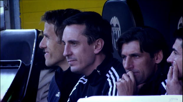 La Liga Valencia - Neville Poor Defending