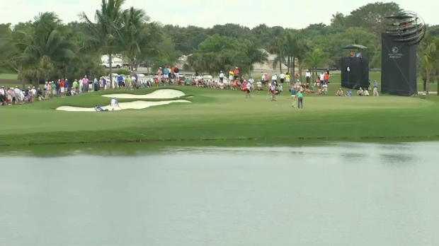 Highlights from a weather-hit opening day�s action at the WGC Cadillac Championship.