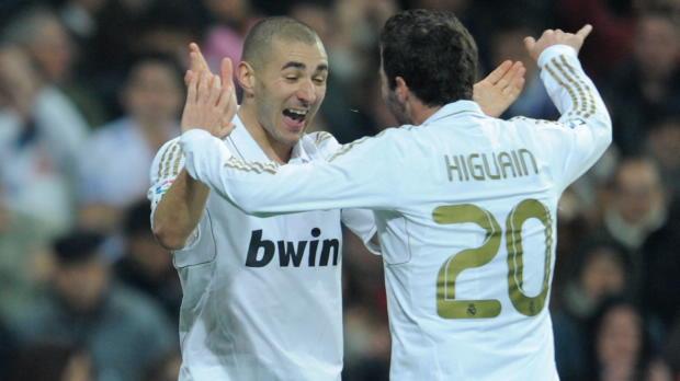 Benzema und Higuain: Ballermänner unter sich
