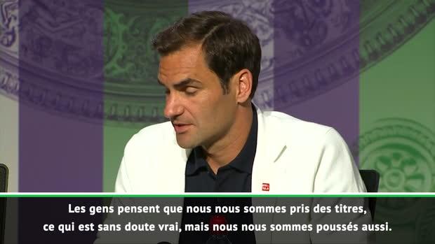 : Wimbledon - Federer - 'La concurrence avec Novak et Rafa ? C'était fun...'