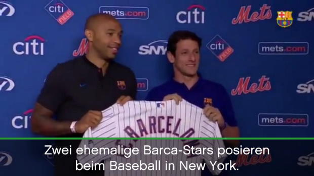 Thierry Henry wirft First Pitch in New York