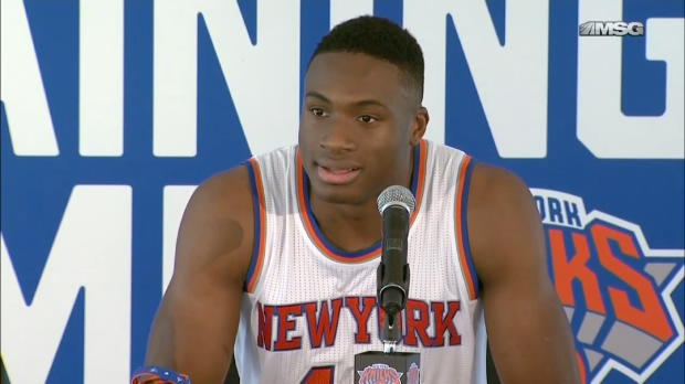 Knicks Media Day 2015: Thanasis Antetokounmpo