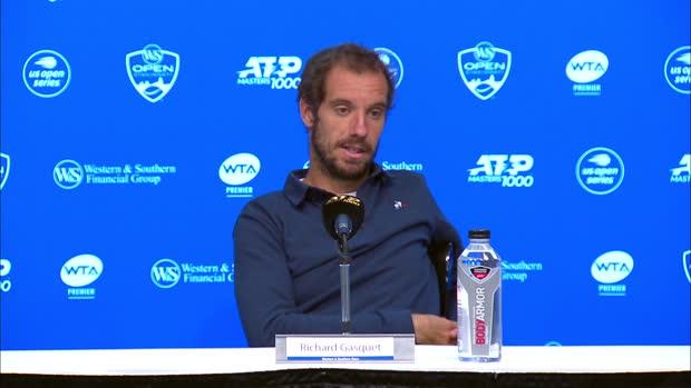 """Tennis : Cincinnati - Gasquet - """"Goffin est un des meilleurs joueurs du monde"""""""