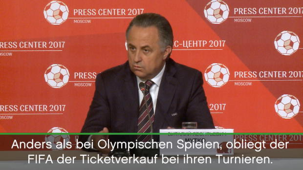 "ConfedCup: Mutko: ""FIFA kontrolliert alles"""