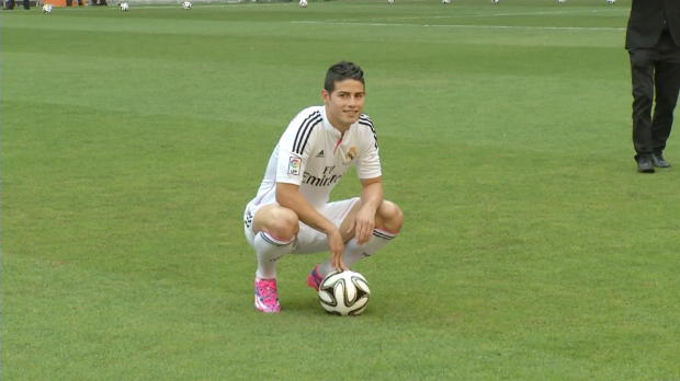 Foot : Liga - Real Madrid, James veut se faire une place