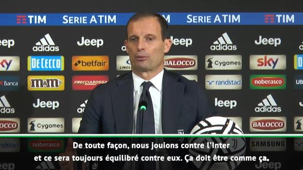 Derby d'Italie - Allegri - 'C'est toujours équilibré contre l'Inter'