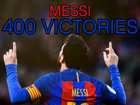 كرة قدم: الدوري الإسباني: ميسي يحتفل بانتصاره الـ400 مع برشلونة