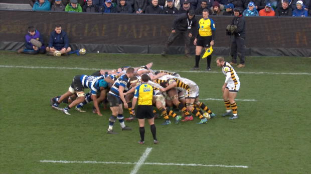 Aviva Premiership - Ben Tapuai's big hit on Christan Wade