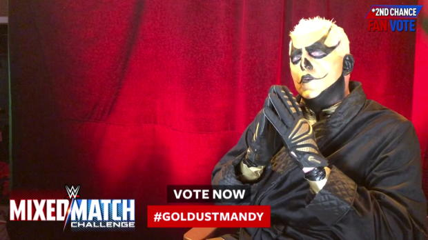 Vote #GoldustMandy now in WWE Mixed Match Challenge's Second Chance Vote